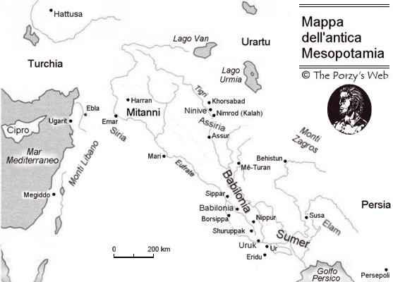 Cartina Muta Della Mesopotamia.Introduzione A Gilgamesh Per Neofiti